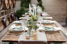 rustic fall tablescape