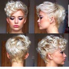 63 Ideas Hair Short Curly Pixie Popular Haircuts For 2019 Curly Pixie Hairstyles, Curly Pixie Cuts, Popular Short Hairstyles, Short Curly Hair, Curly Hair Styles, Natural Hair Styles, Popular Haircuts, Curly Bangs, Short Curls