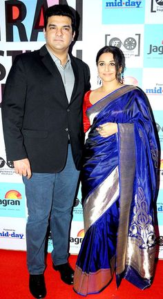 Vidya Balan with Siddharth Roy Kapoor at 5th Jagran Film Festival launch party.