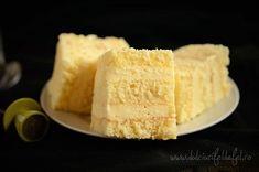Sheet cake and lemon cream Good Food, Yummy Food, Romanian Food, Lemon Cream, Homemade Cakes, Vanilla Cake, Cheesecake, Food And Drink, Cooking Recipes