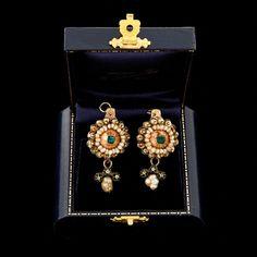 Antiguo Vintage georgiano 18k oro español colonial Esmeralda Diamante Pendientes | Jewelry & Watches, Vintage & Antique Jewelry, Fine | eBay!