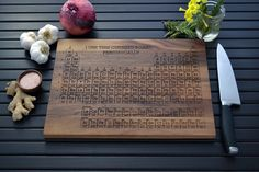 18 best cutting board designs images on pinterest wooden cutting periodic table engraved wood cutting board 12x16 custom design name your own element urtaz Image collections