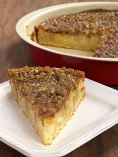 Pecan Pie Coffee Cake is a delicious cake with a layer of pecan pie filling right on top! - Bake or Break