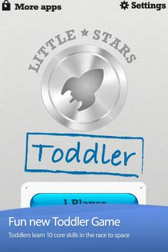 Little Stars - Toddler Games is a fun educational app for Toddlers that covers ten age appropriate topics including: First Words, ABC Letter Names and Sounds, Counting and recognizing Numbers, Shapes, and Colors. While your toddler is enjoying his race into space he will be learning core skills that are critical for the development of every child.