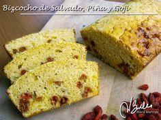Aquí se puede imprimir o guardar la receta del Bizcocho de Piña y bayas de Gojii (Crucero)  Blog: http://recetasdukanmariamartinez.com