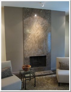 Granite Fireplace Accent Wall, I could see this going very nicely in our dream house