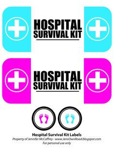 Displaying Hospital Survival Kit labels.jpg