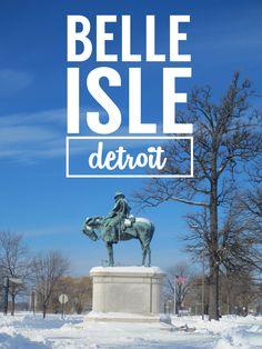 Belle Isle Park Snow Day | #Detroit