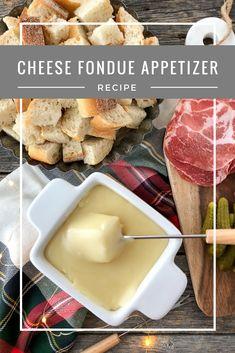 Cheese Fondue Appetizer via @prettysuburbs