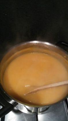 Lekkere pompoen soep met appeltjes!