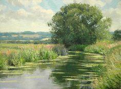 Peter Barker Paintings - Summer Clouds