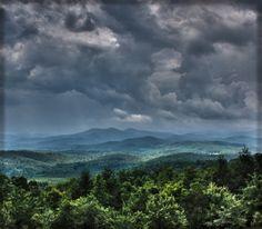 Foothills of Blue Ridge Mountains close to my birth place, Dalton, Georgia