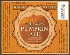 Schlafly – Special Release Pumpkin Ale