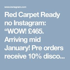 """Red Carpet Ready no Instagram: """"WOW! £465. Arriving mid January! Pre orders receive 10% discount! Call now to Lee order on 01522 793777 🔥🔥🔥 ✔️ we ship worldwide ✔️ over 1,500 styles in stock now ✔️ 3 luxury dress showrooms in 1 gorgeous location ✔️ payment plans available ✔️ we only sell 1 style to each prom or event so that ur look is exclusive to YOU ✔️ open 7 days until 9pm but you must pre book Call 01522 793777 Www.redcarpetready.co.uk #prom#prom2017#pageant#promdress#golddress#gold…"""