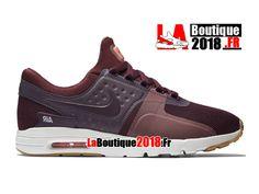 Nike Air Max Zero - Chaussure Mixte Nike Boutique Pas Cher (Taille Homme)  Bordeaux nuit/Rose atomique/Marine/Bordeaux nuit 857661-600H