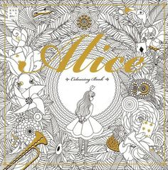 Alice In Wonderland Coloring Book Art Therapy Anti Stress Book Paint Adult Relax