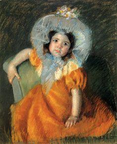 Mary Cassatt (1844-1926)  Child In Orange Dress  Pastel on tinted paper  1902