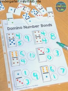 Here is a simple, fun way to practice number bonds in your math groups – use dominoes! Get the free printable page to use in your classroom Here is a simple, fun way to practice number bonds in your math groups – use dominoes! Not only doContinue reading Kindergarten Math Activities, Homeschool Math, Teaching Math, Number Bonds Activities, Number Sense Kindergarten, Free Preschool, Learning Activities, Outdoor Activities, Homeschooling