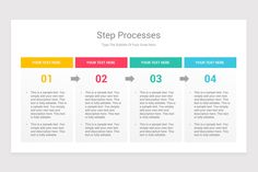 Steps Process With Text Boxes PowerPoint Diagrams is a professional Collection shapes design and pre-designed template that you can download and use in your PowerPoint. The template contains 20 slides you can easily change colors, themes, text, and shape sizes with formatting and design options available in PowerPoint. Color Change, Boxes, Diagram, Ads, Shapes, Templates, Colors, Collection, Design
