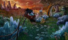 #field #crystals #crystal #woodencarts #art #gameart #nature #gamedevelopmentart #gamedev #artwork #madheadgames #game #gaming