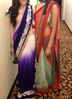 lovely sarees color shading is awesome