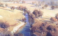 Home - Ross Paterson Watercolor Landscape Paintings, Watercolor Artists, Gouache Painting, Landscape Art, Australian Painters, Australian Art, Virtual Art, Outdoor Paint, Lovers Art