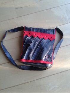 Fietsband tas met fleece
