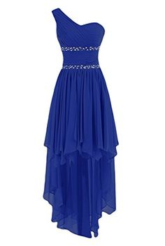 Sunvary One Shoulder High Low Chiffon Bridesmaid Dresses Homecoming Gowns for Juniors Prom Evening Dress US Size 2- Royal Blue Sunvary http://www.amazon.com/dp/B014XPS87Y/ref=cm_sw_r_pi_dp_oPifwb1PQAC0X