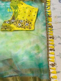 I want to buy saree nd blouse Saree Tassels Designs, Saree Kuchu Designs, Best Blouse Designs, Saree Blouse Neck Designs, Saree Blouse Patterns, Stylish Blouse Design, Work Blouse, Blouses, Indian Blouse