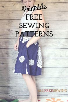 Check out our list of free sewing patterns to print. Every single one of these printable sewing patterns comes with a printable or downloadable pattern file.