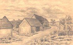 Plzeň Malý Bolevec, kresba Jana Haasová SeniorTip Watercolor Landscape, Rocks, Trees, Drawings, Plants, Painting, Art, Art Background, Tree Structure