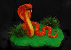 Cobra Snake Cake_Front by Kathy-Cakes, via Flickr