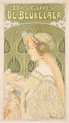 Alphonse Mucha, art nouveau style