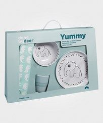 Done by Deer Happy Dots Yummy Dinner Set Blue Blue