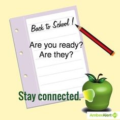 Are you ready? Are they? Stay connected.  Back to school is here! Amber Alert GPS shares tips to make the transition easier at http://www.amberalertgps.com/get-ready-send-kids-back-school. #backtoschool