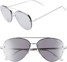 8508b2b1aea Quay x Jaclyn Hill Roxanne 62mm Stud Aviator Sunglasses