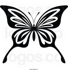 Butterfly Drawings Black and White | of a black and white butterfly black butterfly logo black butterfly ...