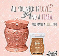 Tiara Scentsy Warmer PREMIUM - 10% off Perfect for the princess in your life! A pink confection straight out of a little princess's fantasy: faux jewels and a swirling pattern, topped with a fairy crown. Click the pic to order! #Scentsy #tiara #princess #addictedtoScentsy