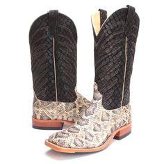 PFIs BootDaddy Collection with Anderson Bean Mens Vertigo Rattlesnake Cowboy Boots Custom Cowboy Boots, Custom Boots, Cowgirl Boots, Western Boots, Western Style, Country Style, My Style, Butterfly Sketch, Anderson Bean