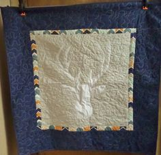 Deer boy crib quilt -  Deer boy baby blanket - Homemade baby quilt - Elk - Woodland Nursery by createdbymammy on Etsy