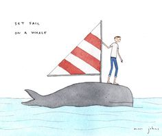 """set-sail-on-whale-470.jpg 470×396 pixels image to go with extensions for """"Down by the Bay"""" or """"Truck Duck"""""""