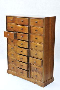 24 Drawer Collectors Chest Spice Cabinet Storage Unit | eBay