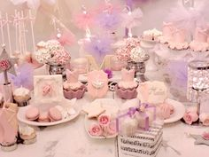 Lovely pink and purple ballerina birthday party! See more party ideas at CatchMyParty.com!