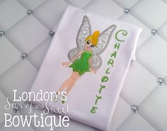 Items similar to Tinkerbell Inspired Embroidered Shirt/ Princess inspired Embroidered T-shirt/ Toddler T-shirt on Etsy Disney Fairies, Tinkerbell, Personalized Shirts, Iron On Patches, Lace Trim, Delicate, Messages, Embroidery, Stitch