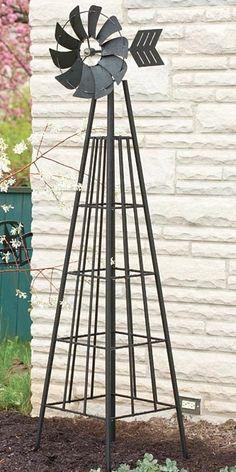 Panacea Windmill Obelisk, Black