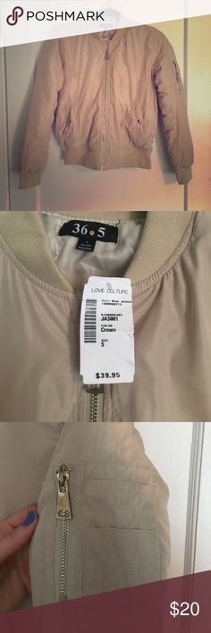 Tan bomber jacket Never worn, good condition. Love Culture Jackets & Coats