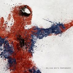 Superhero splatter art.