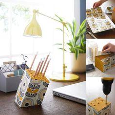 DIY Wood Pencil Holder