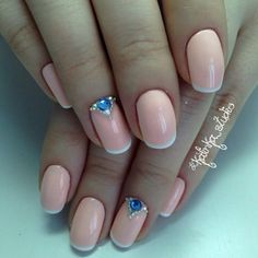 Beautiful French nails, French manicure shellac, Spring french manicure, Spring…