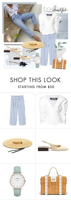 """""""July 1,2017"""" by anny951 ❤ liked on Polyvore featuring MANGO, Jacquemus, CLUSE and Milly"""